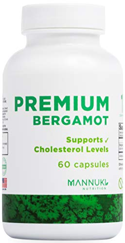 Clean Citrus Bergamot Capsules 500mg, 52% Polyphenols, No Common Fillers, No Silica, No Magnesium Stearate, No Silicon Dioxide -Natural Alternative to Traditional Cholesterol Lowering Products, 60
