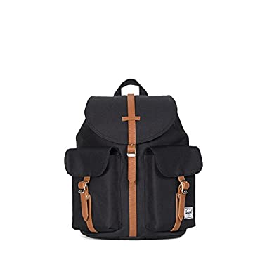 Herschel Supply Co. Dawson Womens Backpack, Black/Tan Synthetic Leather,One Size