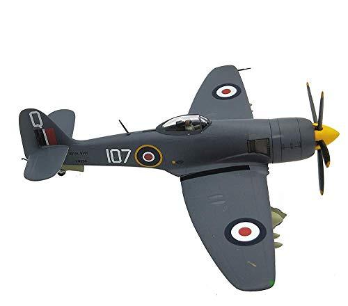 WECDS-E Modelo de aleación de avión Militar 1/72, Modelo Terminado de Bombardero Pesado británico Fw190a-6 Hawker Sea Fury de la Segunda Guerra Mundial