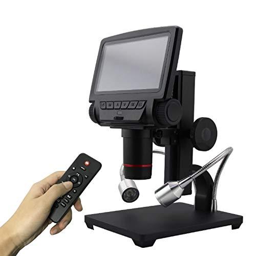 LAN-ZHENS USB Digital/HDMI/AV Microscopio ADSM301 5 Pollici Display Incorporato ad Alta Oggetto Distanza THT SMD Tool Software di Misura Ampia Applicazione