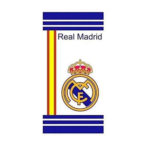 Real Madrid Toalla de playa 75x 150cm, blanco/azul, talla única