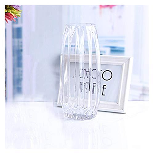yywl Vasi Semplice Geometrico Europeo Vaso di Vetro Verticale Vaso Trasparente Color Moderno Vaso di Giglio Soggiorno (Color : D)