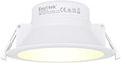14W Recessed LED Downlight Kitchen Bathroom LED Recessed Ceiling Lighting Warm White 3000K Cut Φ120MM AC100~240V IP44 Damp...