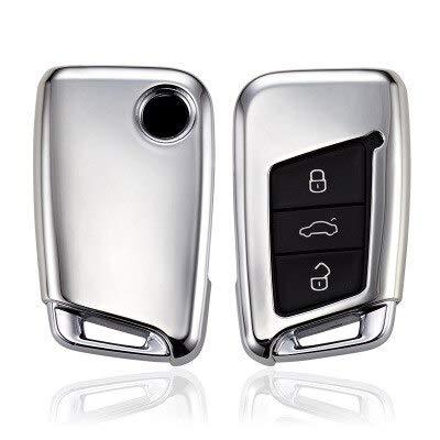 Vendita calda Custodia morbida por chiavi Auto en TPU por VW Volkswagen Skoda Superb Magotan Passat B8 A7 Golf C-Sliver Accessori por telecomando Inteligente