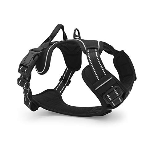 Sinofab Dog Harness No Pull Dog Lift Vest with Handle Adjustable Size Reflective Oxford Cloths Easy Walk Puppy Harness for Medium Dog