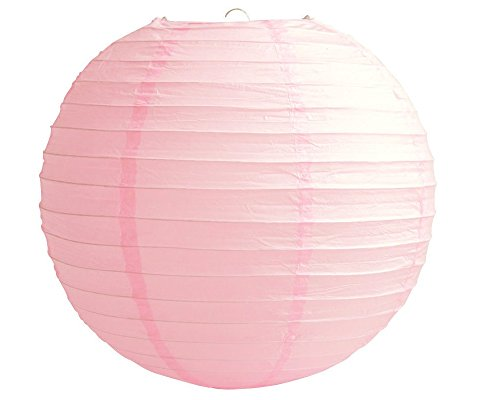 "4"" 6"" 8"" 10"" 12"" 14"" 16"" 18 Round Paper Lanterns Lamp Wedding Birthday Party Decoration (Baby Pink, 14""/35CM)"