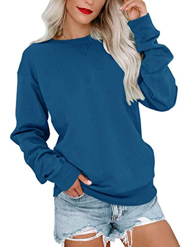 Bingerlily Womens Casual Long Sleeve Sweatshirt Crew Neck Cute Pullover Relaxed Fit Tops…