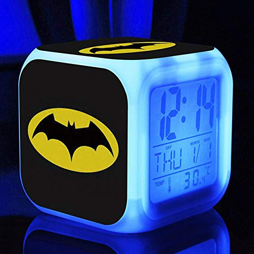 shiyueNB Super Hero Digitaler Wecker Kinder Spider Man Led Wecker Batman Film Wake Up Captain America Reveil Reloj