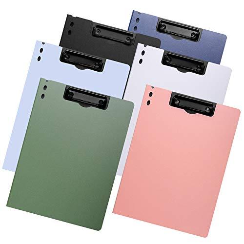 TANCHEN クリップボード クリップファイル A4資料ホルダー 6色セット バインダー 下敷き クリップファイル 書類収納 ファイルケース オフィス用品 業務用 仕事用 事務用 (縦型)