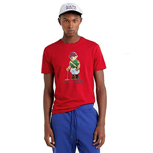 Polo Ralph Lauren Camiseta Polo Bear Custom Slim (XXXL, RL Red)