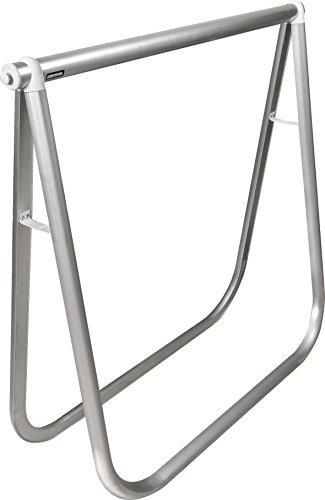 WAGNER Design Klappbock - EXCLUSIV STYLE - Aluminium eloxiert 78 x 74 x 25 cm, Rohr Durchmesser 35 mm und oval 35 x 45 mm, Tragkraft 100 kg, vielseitig einsetzbar für jeden Raumstil - 12641201