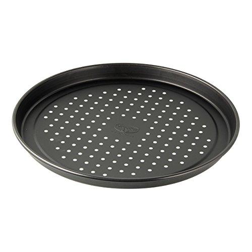 Dr. Oetker Aufback-Pizzablech Ø 28 cm, Backblech aus Stahl für tiefgekühlte & selbstgemachte Pizza, rund & antihaftbeschichtet, Menge: 1 Stück