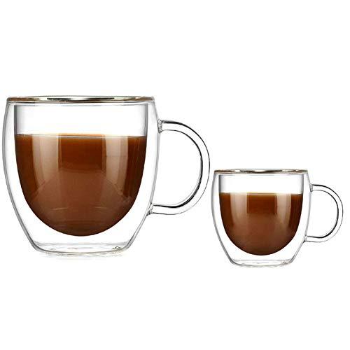 Erjialiu dubbele muur glazen beker met het handvat koffie mokken Kungfu thee beker melk sap gezonde drinken mok