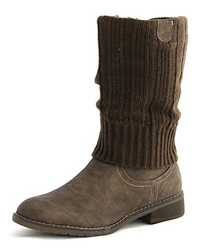 JANE KLAIN Stiefel Stulpe 264 365 Taupe (39 EU, Taupe)
