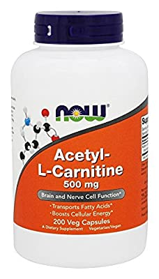 Now Foods Acetyl-L-Carnitine, 500mg - 200 vcaps