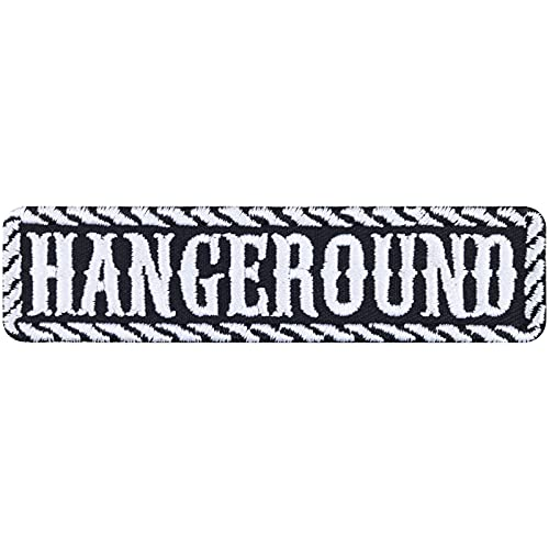 Parche HangerOund para coser o planchar, diseño de motorista, rockero, regalo para motociclistas, aplicación DIY para chaqueta/chaleco/jeans/maletín de moto, 100 x 25 mm