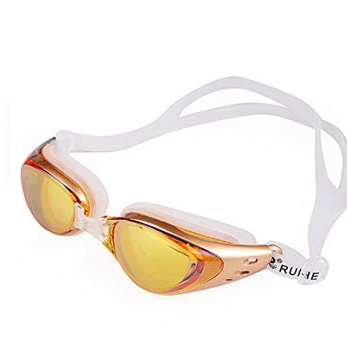 Ikavee zwembril - anti-mist gespiegelde bril voor volwassenen, mannen, vrouwen een maat past alle waterdicht, geen lek siliconen ogen bekers, verstelbare siliconen frame zwembril
