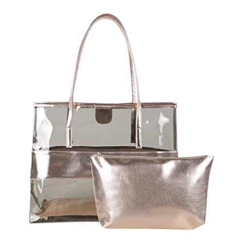 DAMILY - Bolso de mano para hombre y mujer, 2 bolsas de playa grandes