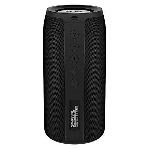 Bluetooth Speaker, MusiBaby M88 Speaker,Portable Speaker,Waterproof Wireless Speakers,Dual Pairing,...
