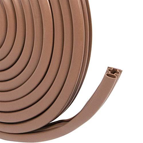 各種サイズ厳選 ANMIO 高密度シリコーン素材 隙間テープ ドア すきま風防止 防音パッキン 引き戸 窓 扉 玄関用すきまテープ 虫塵すき間侵入防止シールテープ エアコン効率アップ 5.9M(長さ)x10mm(幅)x12mm(厚さ)