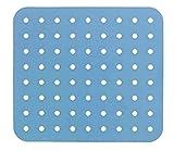 WENKO Fodera per lavandini cristallo rettangolare blu - Tappetino per lavello, extra robus...