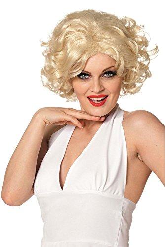 Damen Perücke Hollywood Sternchen Star zum Kostüm Karneval Fasching