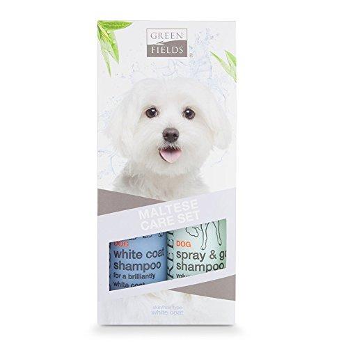 Greenfields Hundeshampoo Geschenk Set für Malteser (weißes Fell) - 2 x 250 ml