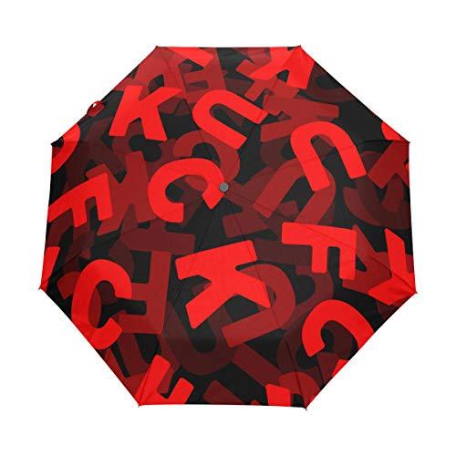 DUILLY Automatischer Regenschirm zum Öffnen/Schließen,3D Fick,Winddichter, wasserdichter, schnell trocknender, Leichter, kompakter, zusammenklappbarer Kleiner Sonnenschirm
