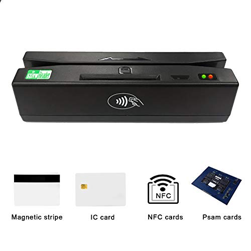 USB PCSC 4 in 1 Magnetic card Reader + EMV chip / NFC / PSAM card reader writer only for APDU command professional person