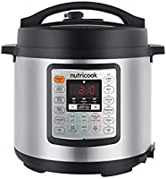 Nutricook Smart Pot Eko by Nutribullet 1000 Watts - 9 in 1 Instant Programmable Electric Pressure Cooker, 6 Liters, 14...