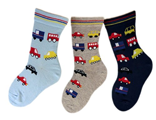 Shimasocks Baby/Kinder Socken 3-er Pack allover Auto, Farben alle:mehrfarbig, Größe:19/22 bzw. 86/92