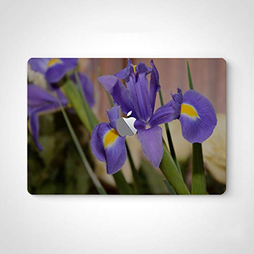 Laptop Skin Sticker Blossoming Iris Flower in A Meadow Decals and Stickers for Men for MacBook Air 13' Pro 13'/15'/16' 2008-2020 Version Laptop Keyboard Decal Sticker