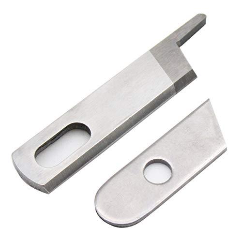 CKPSMS Marca - Ajuste para la máquina de sobrecarga Serger SINGER 14CG754 Cuchillas de cuchillas superiores e inferiores # 412585 + 550449 1SET