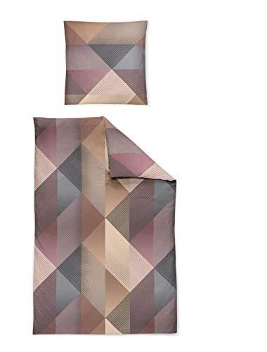 Irisette Bettwäsche Interlock-Jersey Mauve-grau-beige Größe 135x200 cm (80x80 cm)
