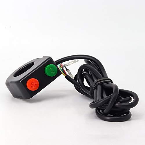amalibay Interruptor para Controlador de Faros y bocinas, para Bicicleta eléctrica de...