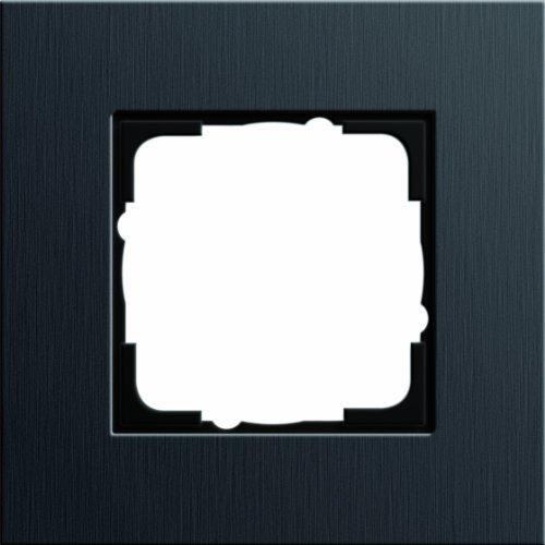 Gira 0211126 Abdeckrahmen 1 Fach Esprit Aluminium, schwarz
