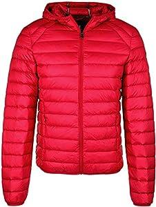 JOTT Nic Down Jacket Nico with Long Sleeve, Rojo, M para Hombre