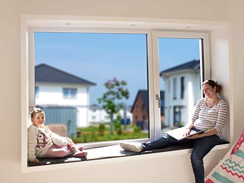 Luxflair Sitzfenster Sitzkissen 40x120cm aus Filz, 2-farbig in anthrazit/dunkelgrau und Graumeliert, XXL Kissen BZW. Auflage für Sitzfensterbank zum Wenden