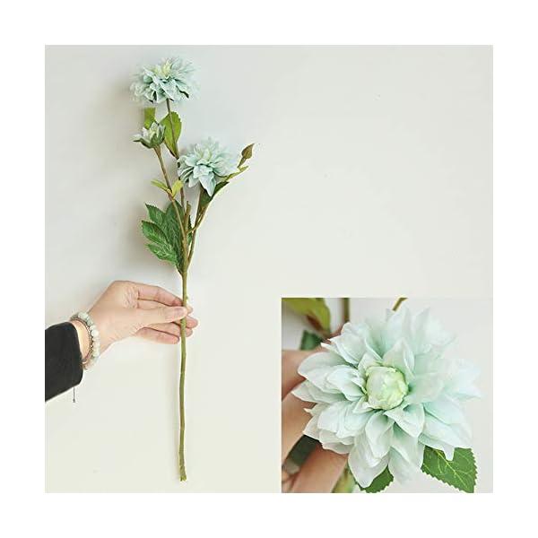 display08 Flor Artificial De La Dalia, Decoración Casera De La Exhibición del Escritorio De La Mesa del Hogar De La Boda…
