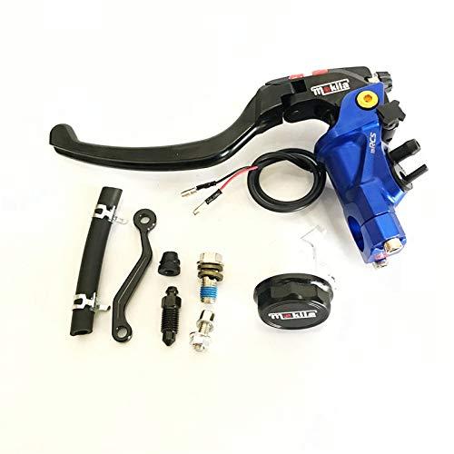 PUXINGPING- 22 mm CNC 19 RCS Motocicleta Cilindro Maestro del Freno de Cable de Embrague Radial Bomba de Freno Universal for Honda (Color : Blue Left)