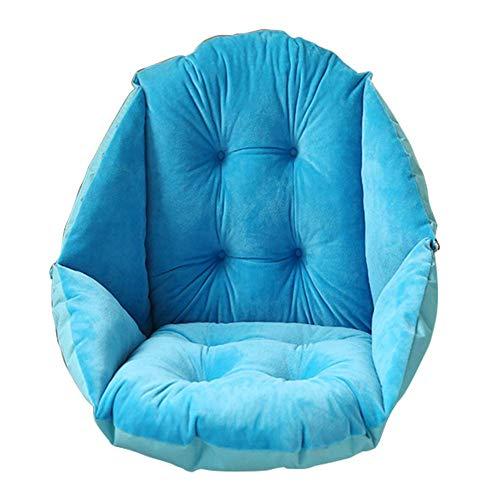 NSYNSY Cojín Grueso cálido para Silla con Respaldo Alto, cojín de Felpa Impermeable para Oficina, Almohadillas cómodas para Silla-A