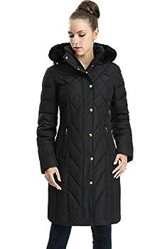 BGSD Women s Addi Waterproof Down Parka Coat Black Plus Size 1X