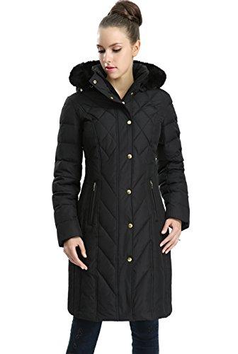 BGSD Women's Addi Waterproof Down Parka Coat Black Plus Size 3X