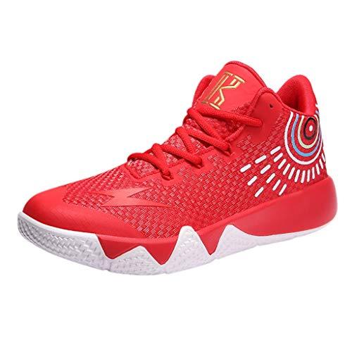 Basketballschuhe für Herren/Skxinn Unisex Outdoor Sneakers Turnschuhe Sportschuhe Wanderschuhe rutschfest Footwear Tennischuhe Sneaker Laufschuhe Ausverkauf(Rot,45 EU)
