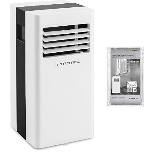 TROTEC Aire Acondicionado Portátil monobloque Pac 2100 X / 3 en 1: Refrigeración, Ventilación y Deshumidificación/Purificación de Aire/Isolación de Ventana AirLock 100 Incluida