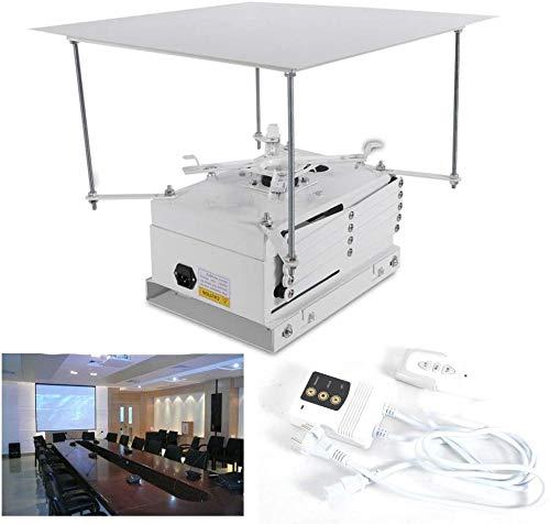 DiLiBee Soporte para proyector eléctrico de 100 cm, Soporte de proyector motorizado con Control Remoto de 220V