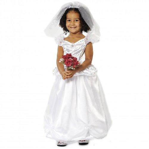 Mädchen Kids Princess Bride Wedding Dress Costume 5-7 Jahre