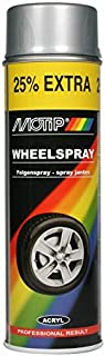 Motip M04007 - Pintura en Spray para Llantas de Coche (500 ml), Color Plateado