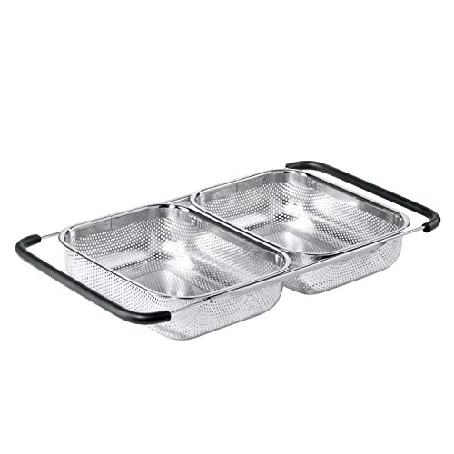 Oggi 5626.0 Over-The-Sink Stainless Steel Double Basket Strainer