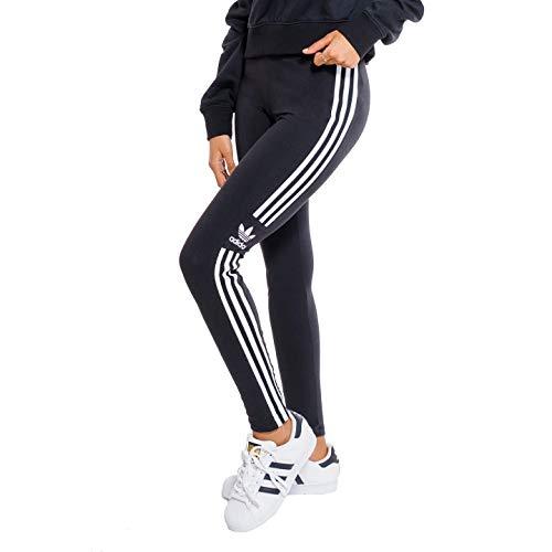 (アディダス オリジナルス) adidas Originals レギンス スポーツ DV2636 WOMEN TREFOIL TIGHTS タイツ スパッツ サイド ライン 3ストライプ トレフォイルロゴ レディース (ブラック(黒), UK(6)/JP WOMENS(M)) [並行輸入品]